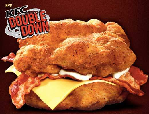 It's Back! KFC Double Down Nutrition Facts