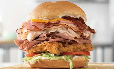 Arby's 5 Meat Mega Stack Sandwich Debuts