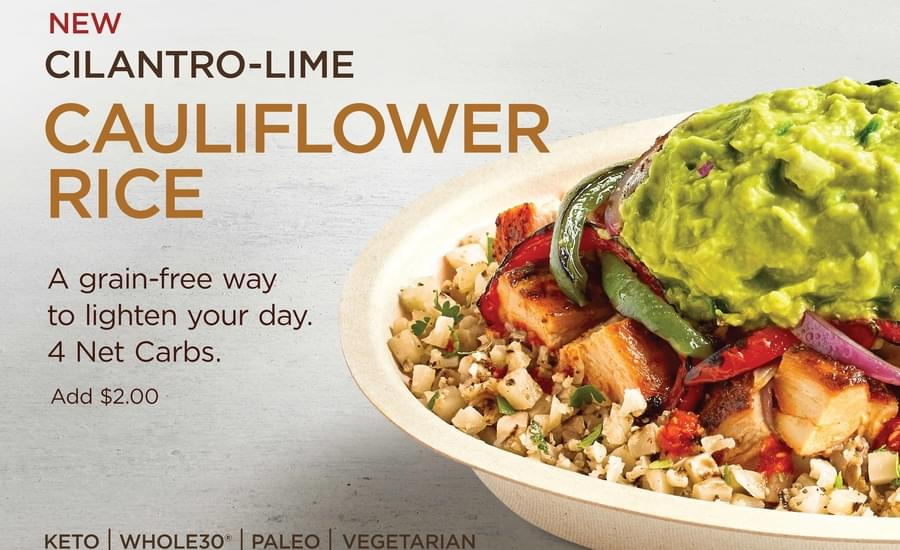 Is Chipotle's New Cauliflower Rice Healthier than White or Brown Rice?